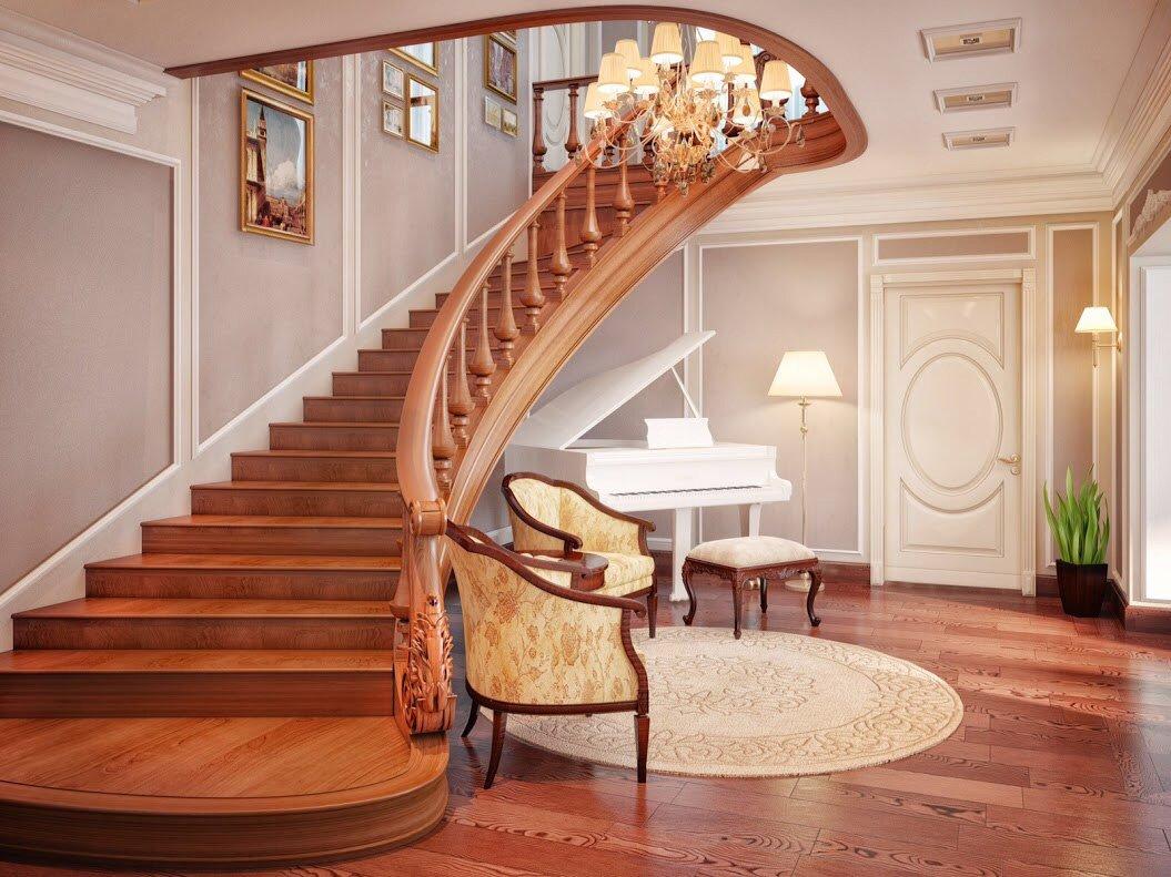 Дизайн холла лестницы